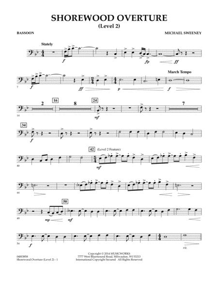 Shorewood Overture (for Multi-level Combined Bands) - Bassoon (Level 2)