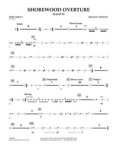 Shorewood Overture (for Multi-level Combined Bands) - Percussion 2 (Level 1)
