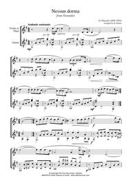 Nessun dorma for violin or flute and guitar