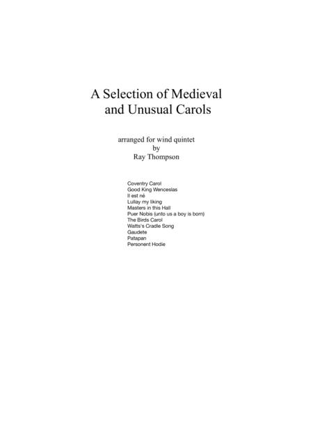 A Selection of Medieval  and Unusual Carols for Wind Quintet