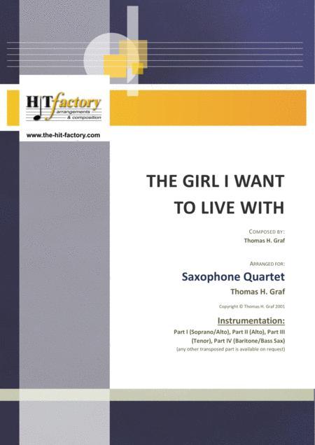 The girl I want to live with - Latin/Calypso - Saxophone Quartet