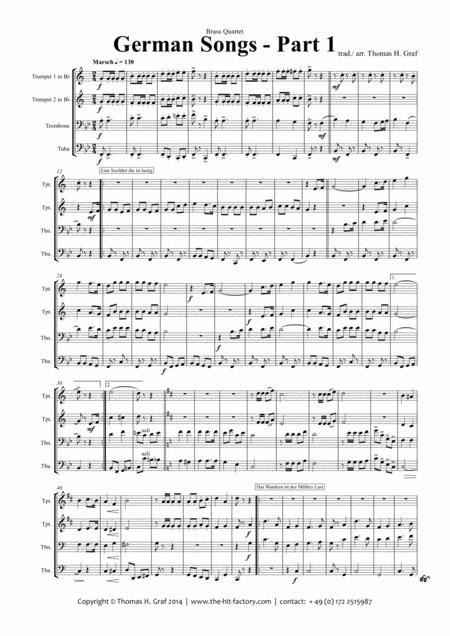 German Songs Part 1 - Oktoberfest - Brass Quartet