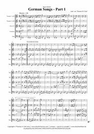 German Songs Part 1 - Oktoberfest - Brass Quintet