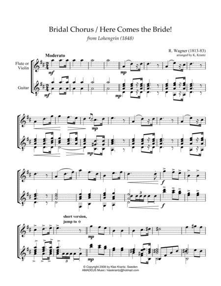 Bridal Chorus - Flute (optional)