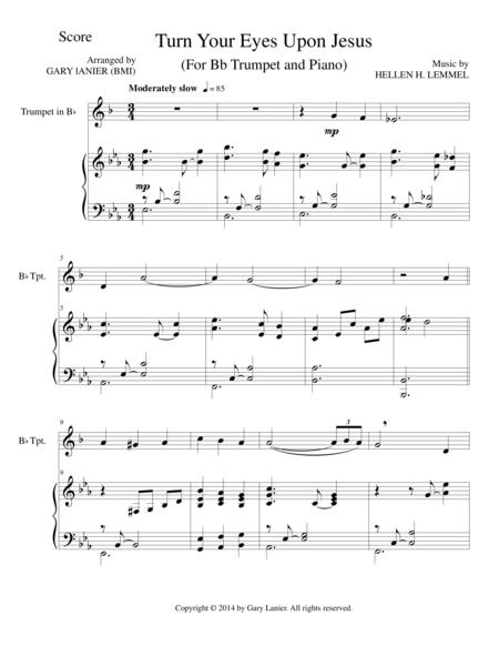 TURN YOUR EYES UPON JESUS (Bb Trumpet Piano and Trumpet Part)
