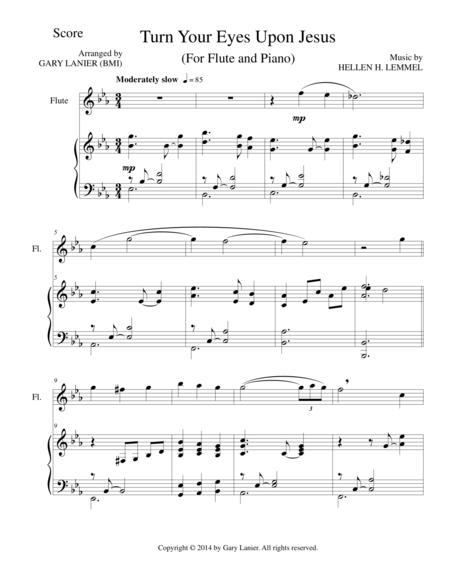 Download TURN YOUR EYES UPON JESUS (Flute Piano And Flute Part ...