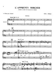 Dukas L'apprenti Sorcier, for piano duet(1 piano, 4 hands), PD811