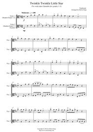Download Twinkle Twinkle Little Star For Viola Duet Suitable For