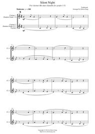 Silent Night (for clarinet(Bb) duet, suitable for grades 1-5)