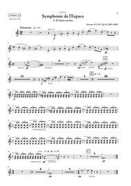 Symphonie de l Espace (Symphony of Space) - PARTS - horns, trumpets, cornets