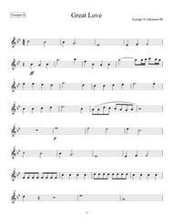 Great Love - Trumpet II