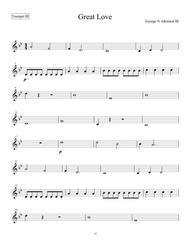 Great Love - Trumpet III