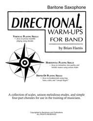 Directional Warm-Ups for Band (method book - Part Book Set C: Bari Sax, Bass Clarinet, Contra/Alto Clarinet, and site license to photocopy)