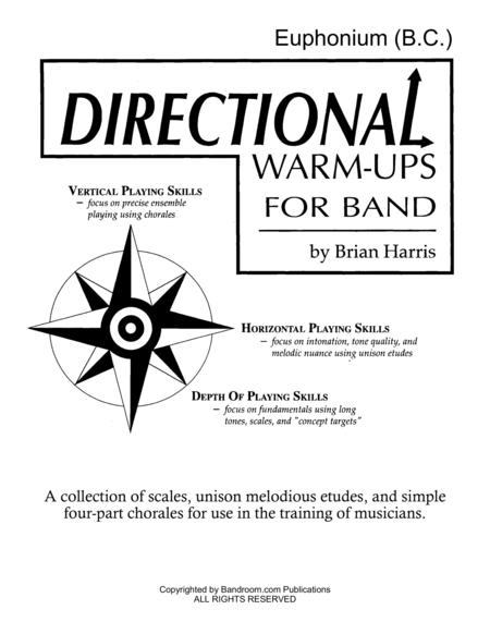 Directional Warm-Ups for Band (method book - Part Book Set H: Euphonium BC, Euphonium TC, Tuba, and site license to photocopy)