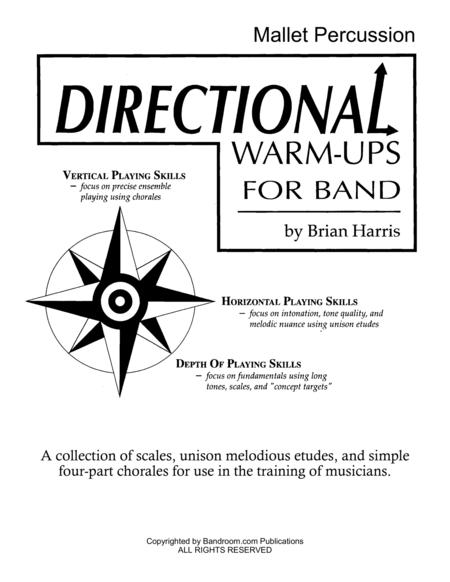 Directional Warm-Ups for Band (method book - Part Book Set I: Timpani, Mallets, Percussion, and site license to photocopy)