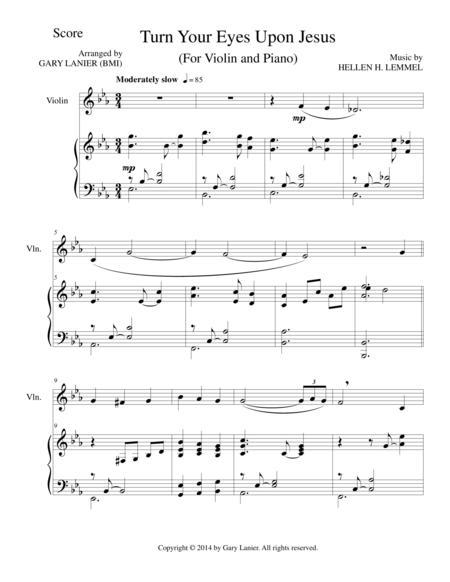 Download TURN YOUR EYES UPON JESUS (Violin Piano And Violin Part ...