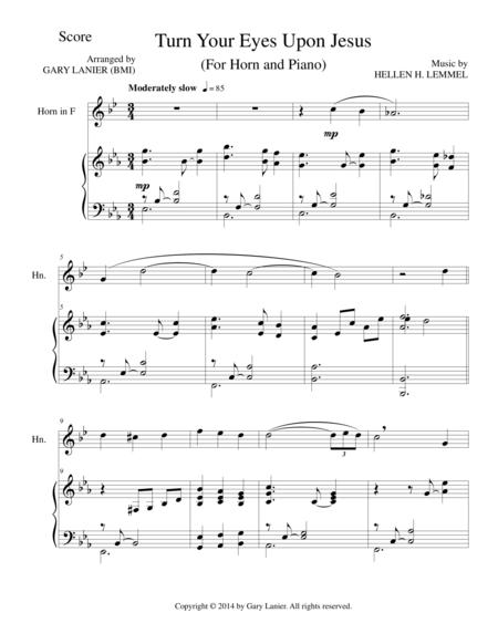 TURN YOUR EYES UPON JESUS (Horn Piano and Horn Part)