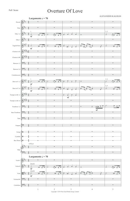 Overture of Love (2012) - Study Score