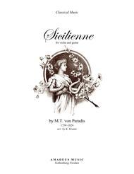 Sicilienne (D major) for violin and guitar