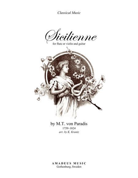 Sicilienne (G major) for violin or flute and guitar