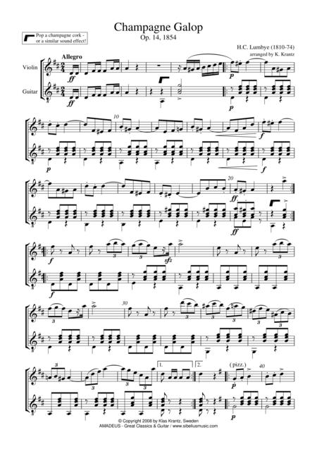 Champagne Galop for violin and guitar