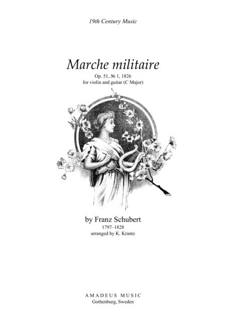 Marche Militaire (C Major) for violin and guitar