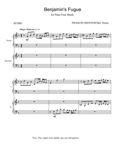 BENJAMIN'S FUGUE piano four-hands