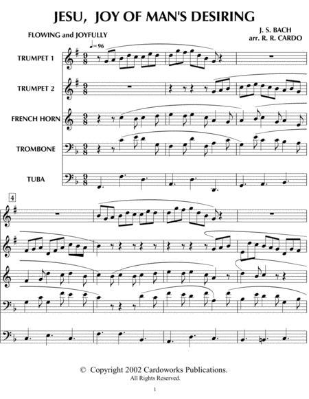 JESU, joy of man's desiring (from Church Music for Brass Quintet)