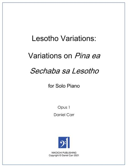 Lesotho Variations for Solo Piano - Opus 1