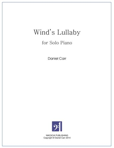 Wind's Lullaby for Solo Piano