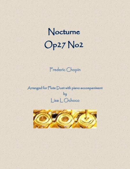 Nocturne Op27 No2 for Flute Duet and Piano