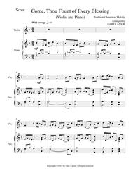 COME, THOU FOUNT OF EVERY BLESSING (Violin/Piano and Violin Part)