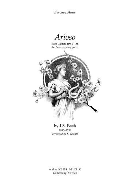Preview Arioso (A Major) For Flute And Easy Guitar By J S