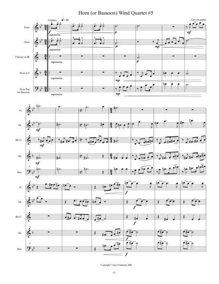 Horn (or Bassoon) Wind Quartet #5