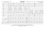 Rude - Full Score