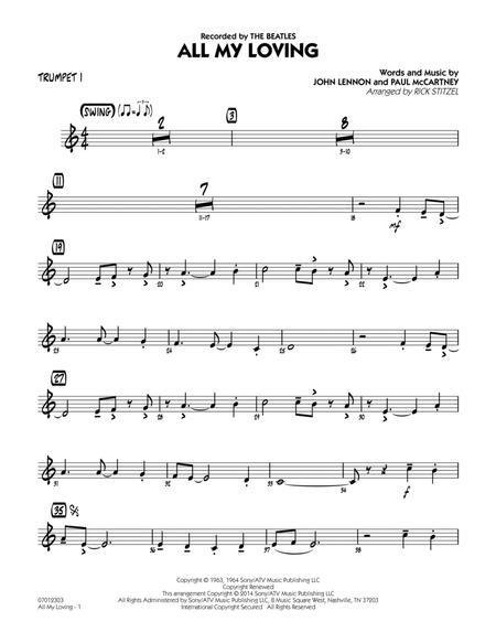 All My Loving - Trumpet 1