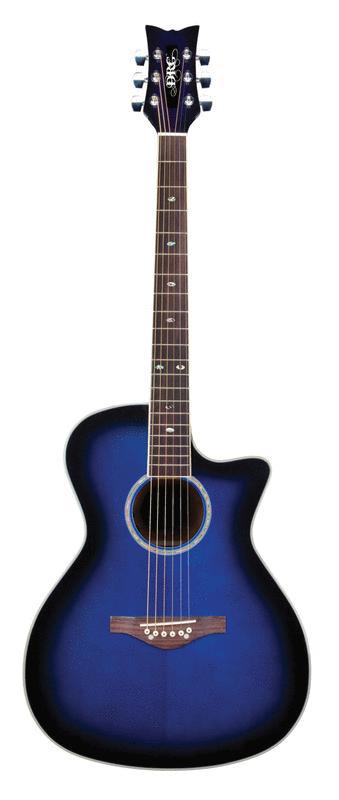 Daisy Rock Girl Guitars: Wildwood Artist Acoustic-Electric Guitar (Royal Blue Burst)