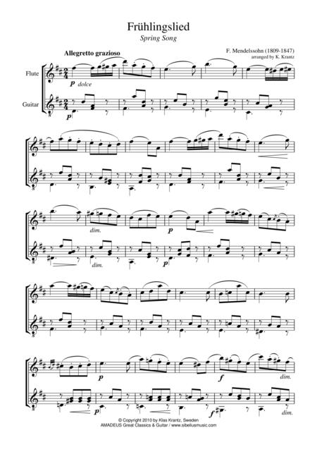Fruhlingslied / Spring song for flute and guitar