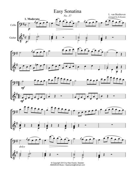 Easy Sonatina for violin and guitar