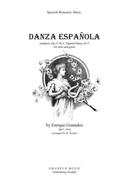 Spanish Dance No. 5 for cello and guitar