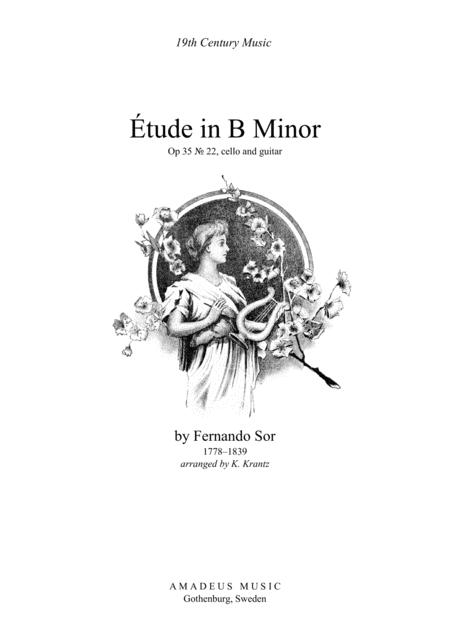 Etude / Study in B Minor for cello and guitar