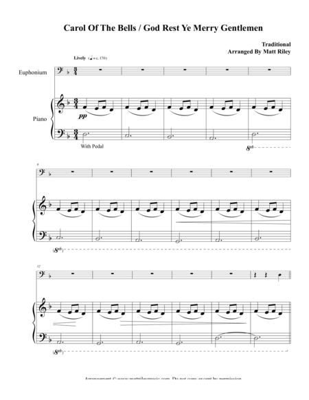 Carol of the Bells / God Rest Ye Merry Gentlemen –Euphonium