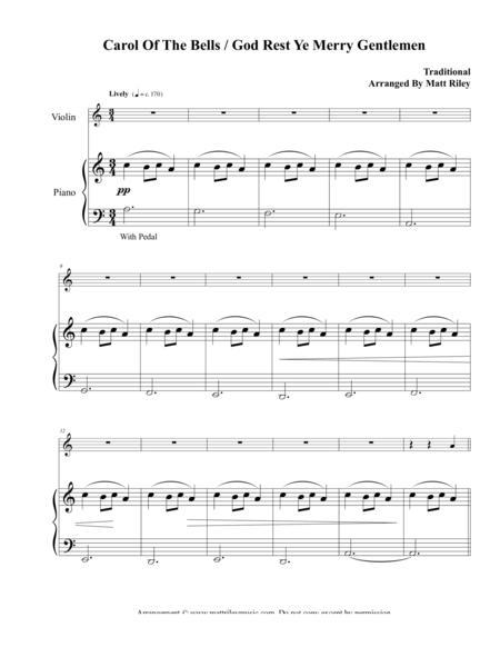 Carol of the Bells / God Rest Ye Merry Gentlemen – Violin