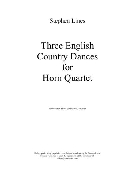 Three English Country Dances for Horn Quartet