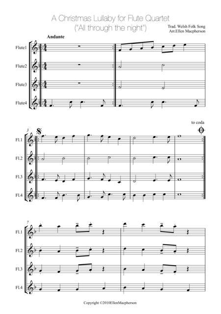 A Christmas Lullaby for Flute Quartet
