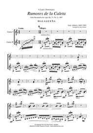 Rumores de la Caleta Op. 71 No. 6 for guitar duo