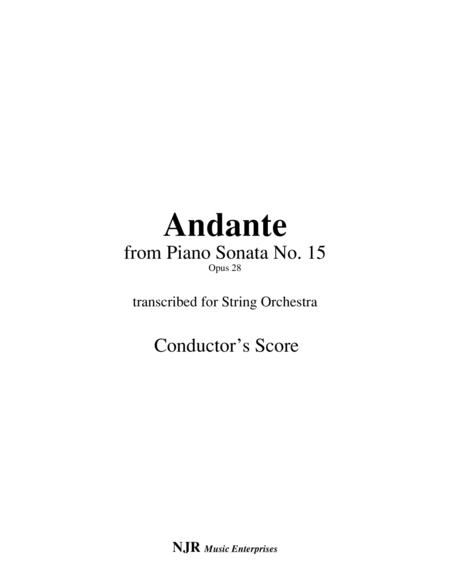 Andante (from Piano Sonata 15) arranged for string orchestra