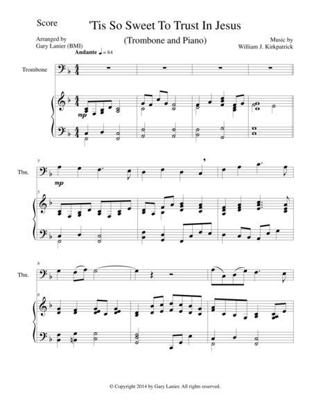 'TIS SO SWEET TO TRUST IN JESUS (Trombone/Piano and Trombone Part)