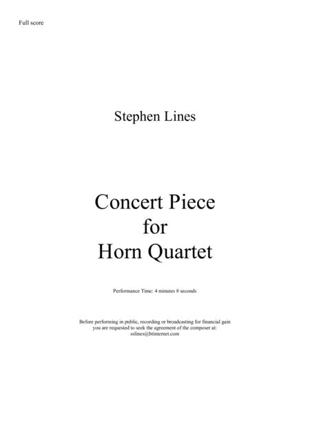 Concert Piece for Horn Quartet