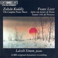 Kodaly; Liszt: Piano Music